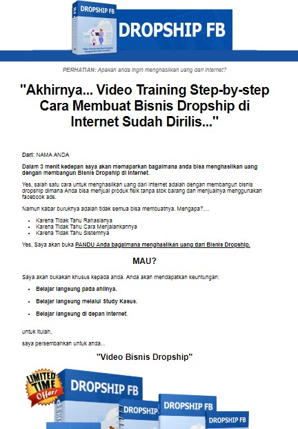 landing-page-video-panduan-bisnis-droship-fb